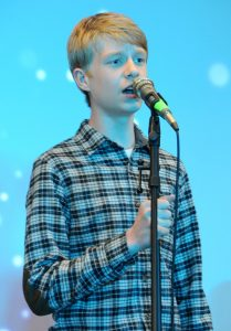 Gerspacher (`19) performing at Live Jive.