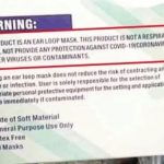 Warning on Mask Box